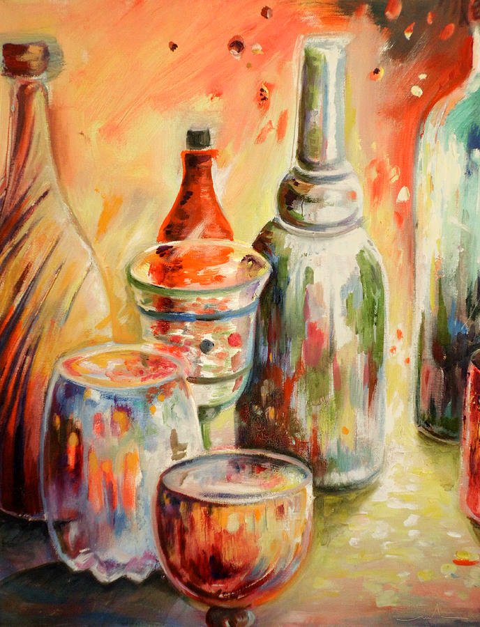 Bottles And Glasses And Mugs 02 Painting