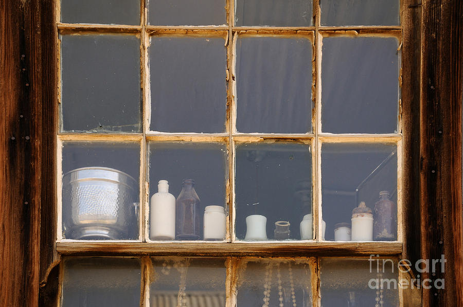 Window Photograph - Bottles In The Window by Vivian Christopher