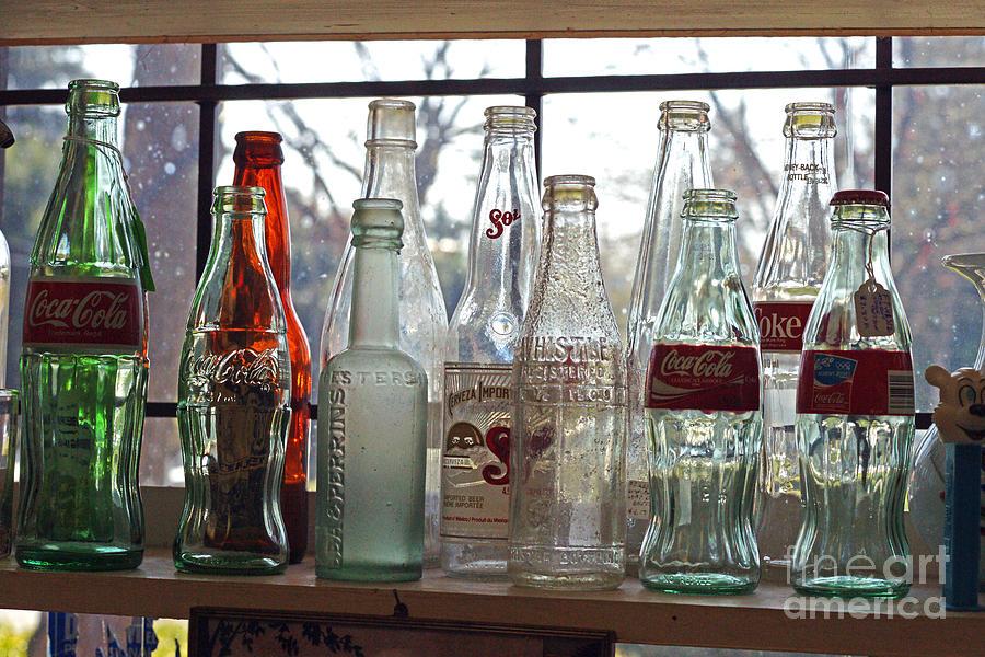 Bottles Photograph - Bottles On The Shelf by Randy Harris