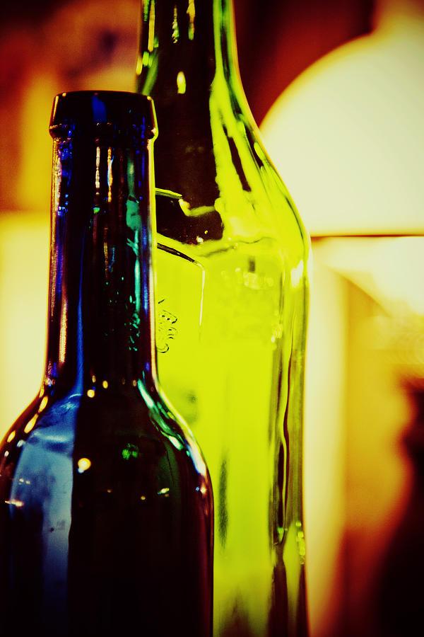Bottles Photograph - Bottles by Toni Hopper