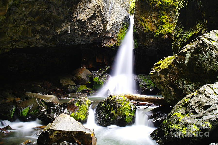 Water Photograph - Boulder Cave Falls Revisited by Jeff Swan