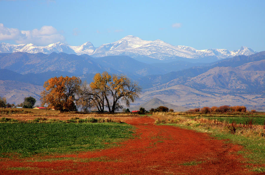 Boulder Photograph - Boulder County Colorado Landscape Red Road Autumn View by James BO  Insogna