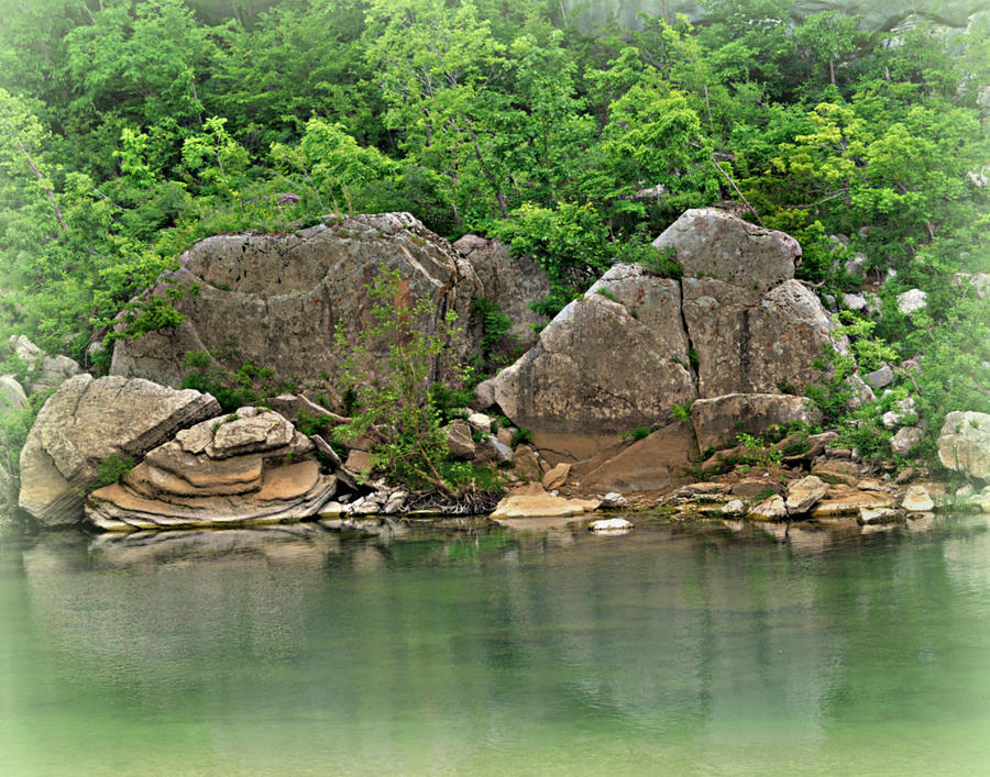 Buffalo River Photograph - Boulders In The Buffalo by Marty Koch