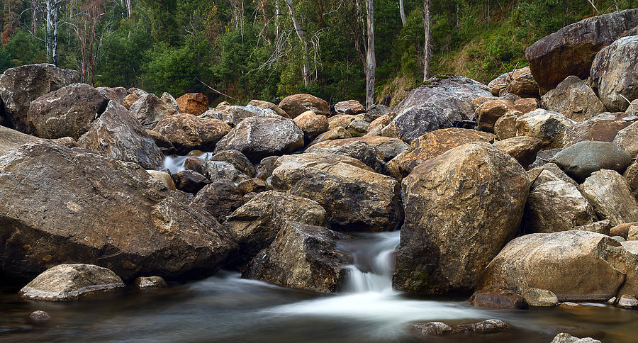 Boulders Photograph - Boulders On The River by Mark Lucey