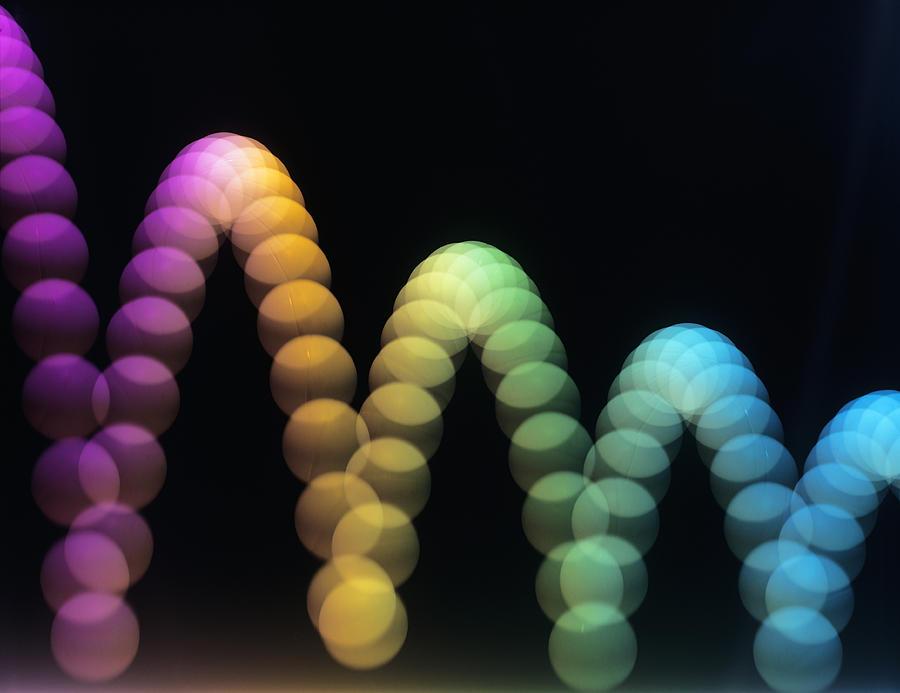 Parabola Photograph - Bouncing Ball by Adam Hart-davis