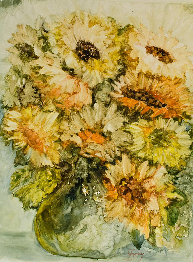 Sunflowers Painting - Bouquet Of Sunflowers by Joanne Smoley