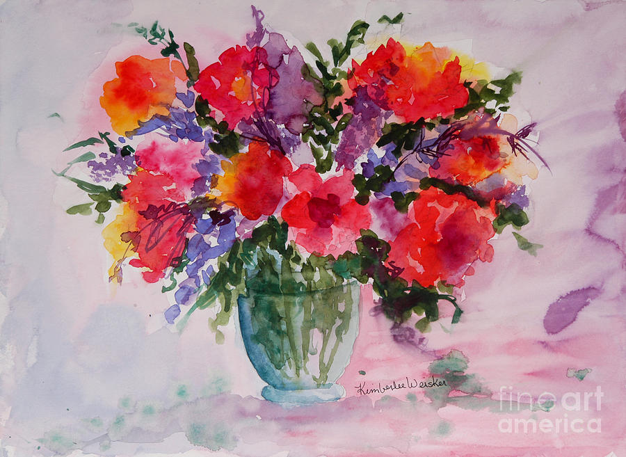 Flowers Painting - Bouquet Of Wishes by Kimberlee Weisker