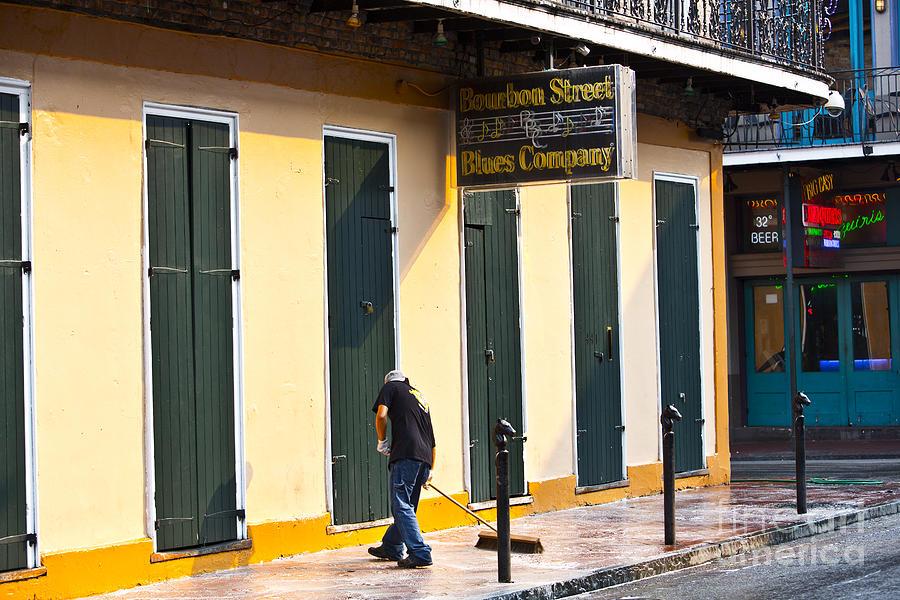 New Orleans Photograph - Bourbon Street Morning by Leslie Leda