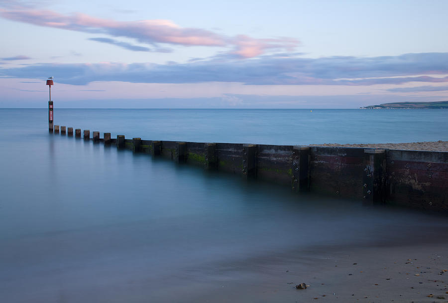 Bournemouth Photograph - Bournemouth Beach At Sunset by Ian Middleton