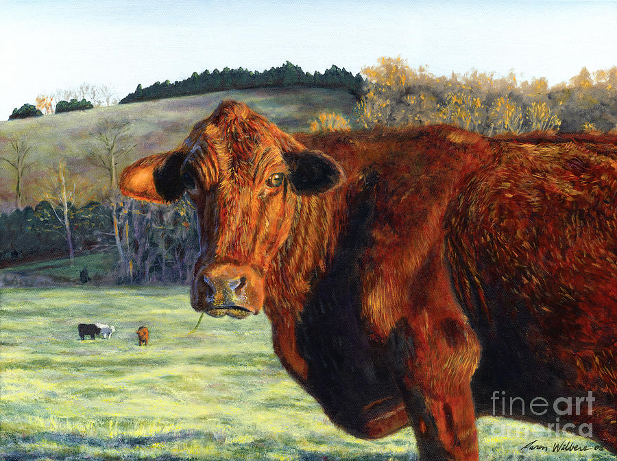 Cow Painting - Bova Lisa by Aaron Wilbers