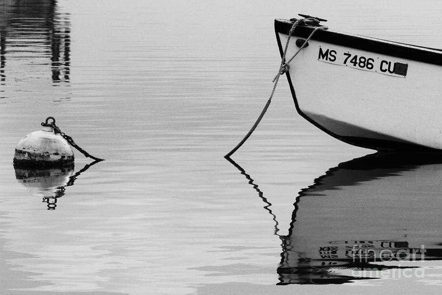 Bow reflection 072012 BW by Gene  Marchand