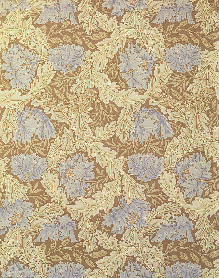 William Morris Tapestry - Textile - Bower Wallpaper Design by William Morris