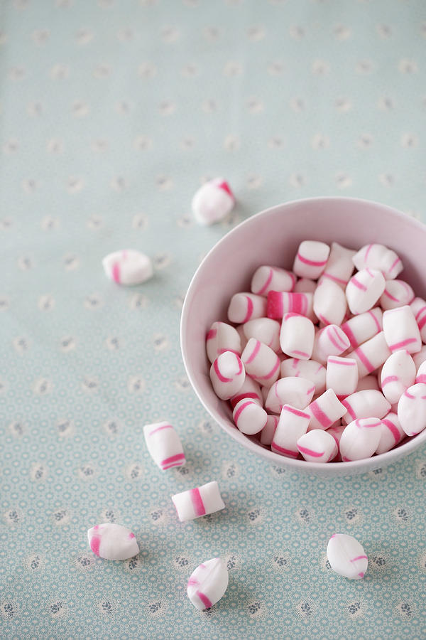 Vertical Photograph - Bowl Of Sweets by Elin Enger