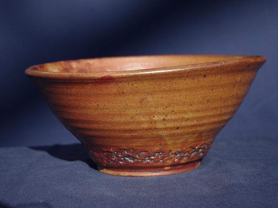 Clay Ceramic Art - Bowl With Texture by Rick Ahlvers