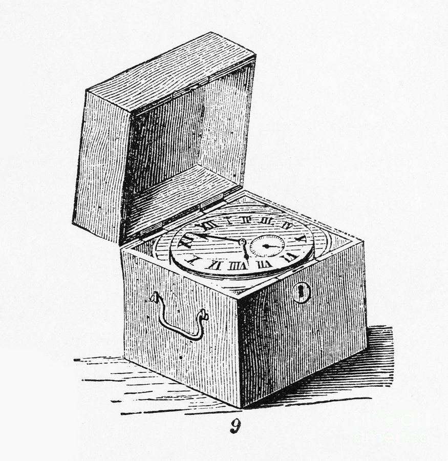 Clock Photograph - Box Chronometer by Science Source
