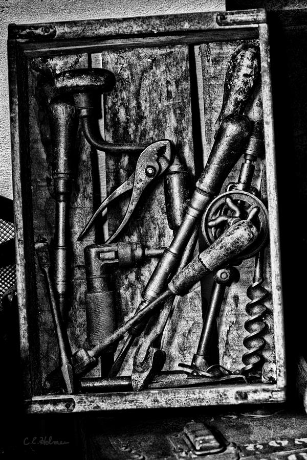 Tools Photograph - Boxed Set - Bw by Christopher Holmes