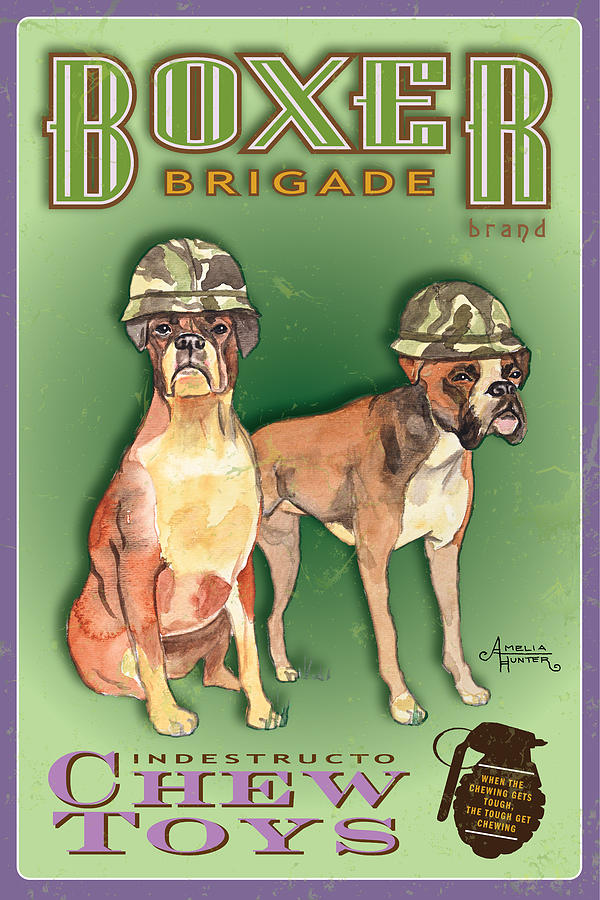 Army Dogs Pastel - Boxer Brigade Chew Toys by Amelia Hunter