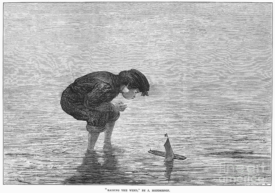 1871 Photograph - Boy And Toy Boat by Granger
