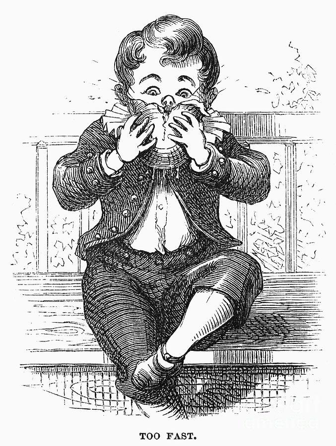 1876 Photograph - Boy Eating by Granger