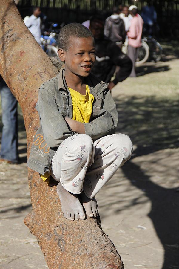 Boy Painting - Boy In Zen Thought by Robert SORENSEN