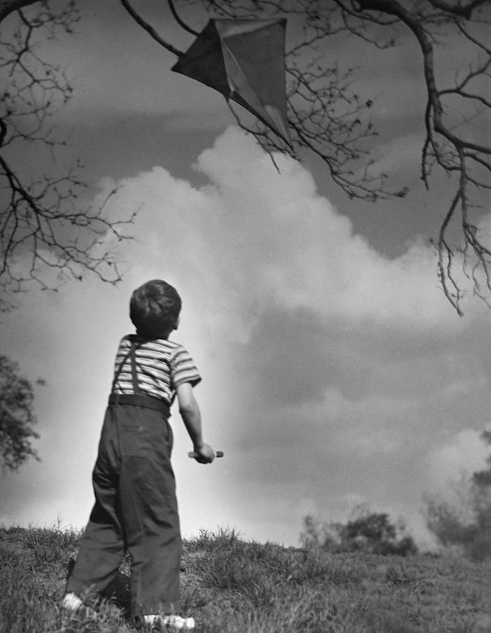 Child Photograph - Boy Outdoors by George Marks