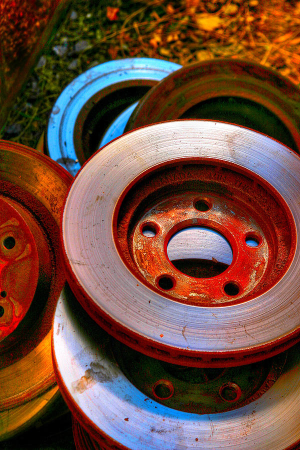 Auto Photograph - Brakes by Terry Finegan