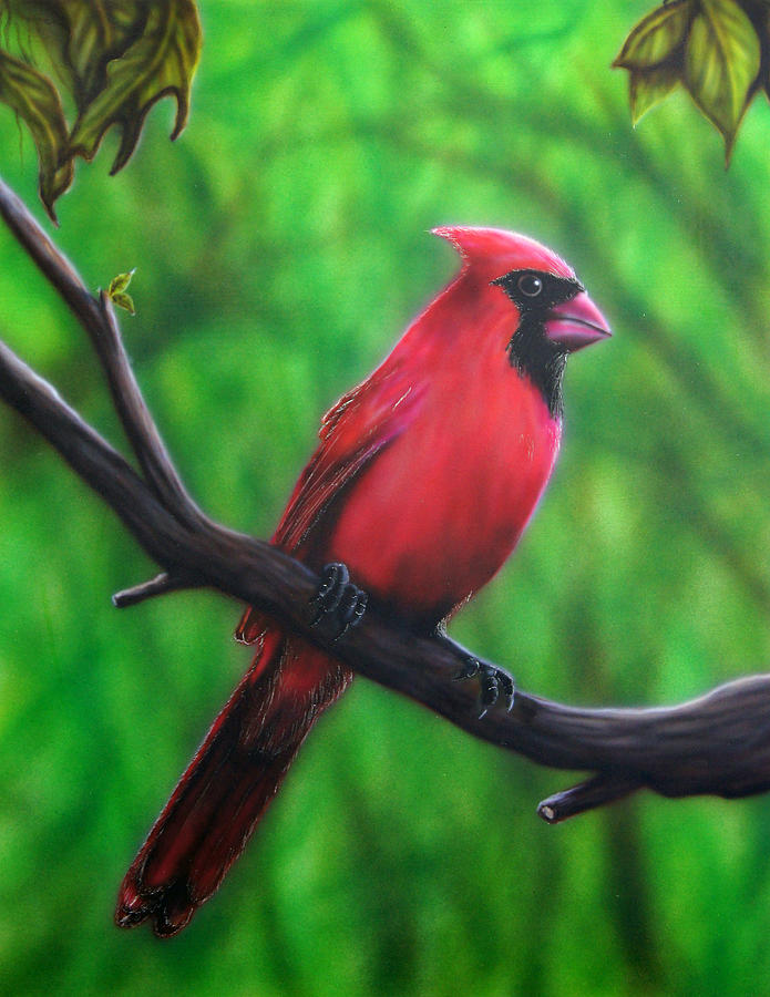 Cardinal Painting - Branch Manager by Mike Wilber