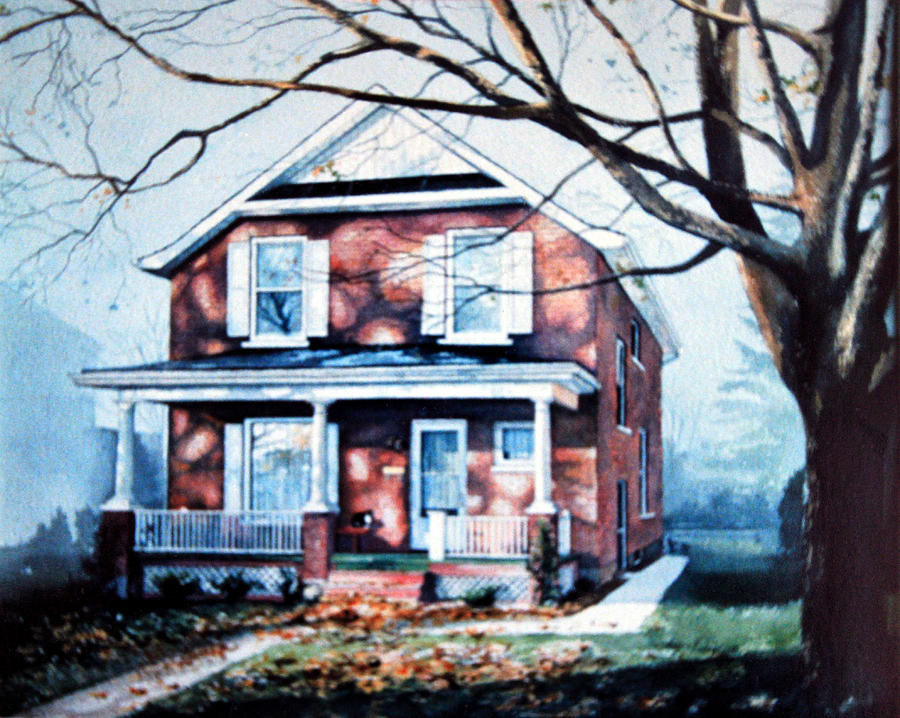 Architectural Painting Painting - Brant Avenue Home by Hanne Lore Koehler