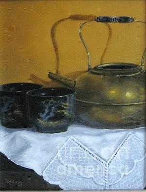 Still Life Painting - Brass Kettle by Patricia Lang