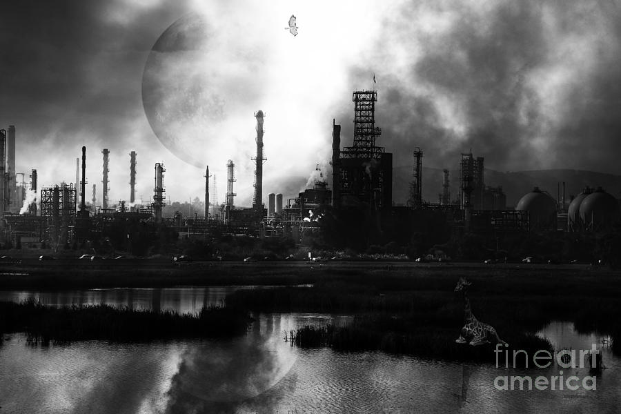 Brave New World Photograph - Brave New World - Version 2 - Black And White - 7d10358 by Wingsdomain Art and Photography