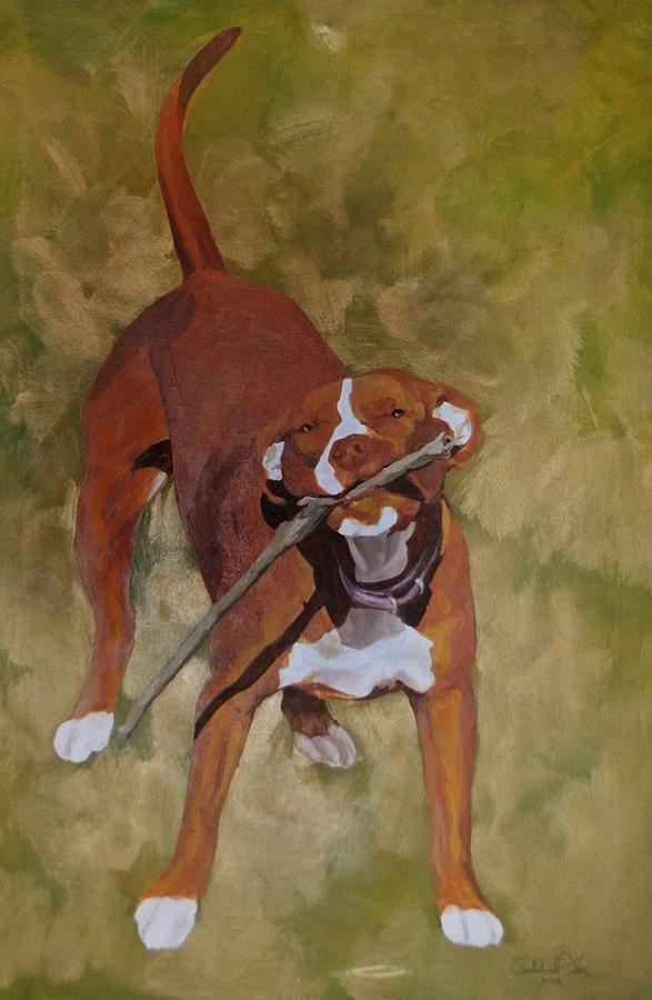 Dog Painting - Bravo by Theresa Higby
