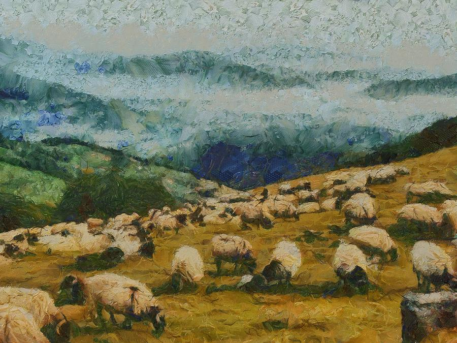 Sheep Painting - Bread From Heaven by Aaron Stokes