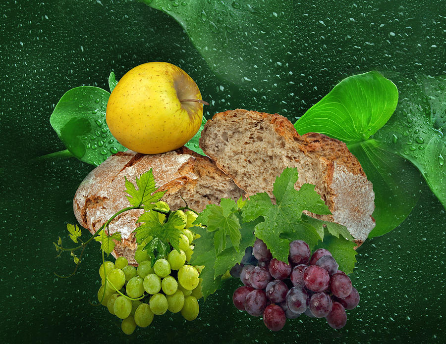Eat Photograph - Bread by Manfred Lutzius