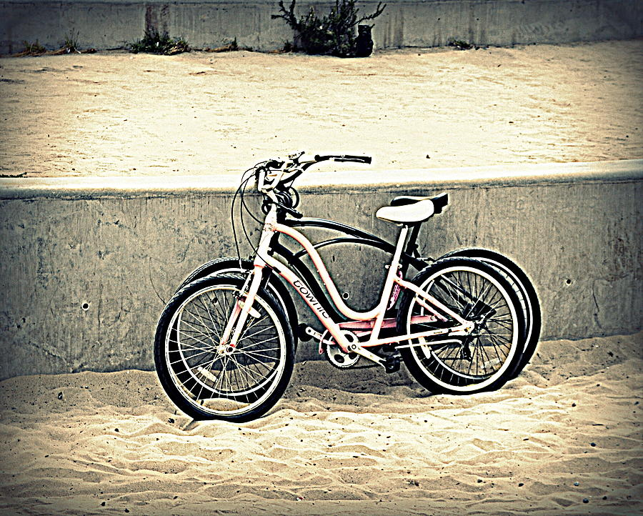 Bikes On Beach Photograph - Break Time by Nicky Dou