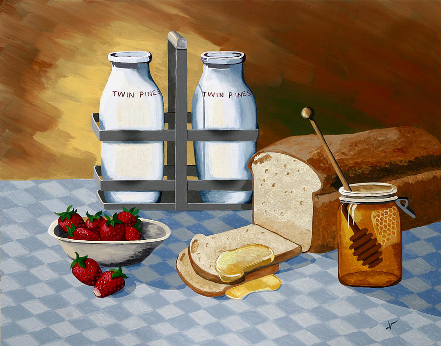 Still Life Painting - Breakfast by Jennifer  Donald