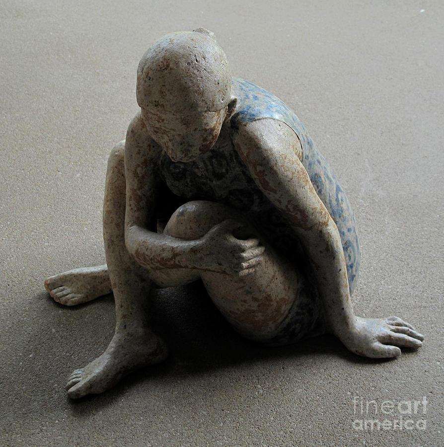 Woman Sculpture - Breakfast on the grass by Raimonda Jatkeviciute-Kasparaviciene