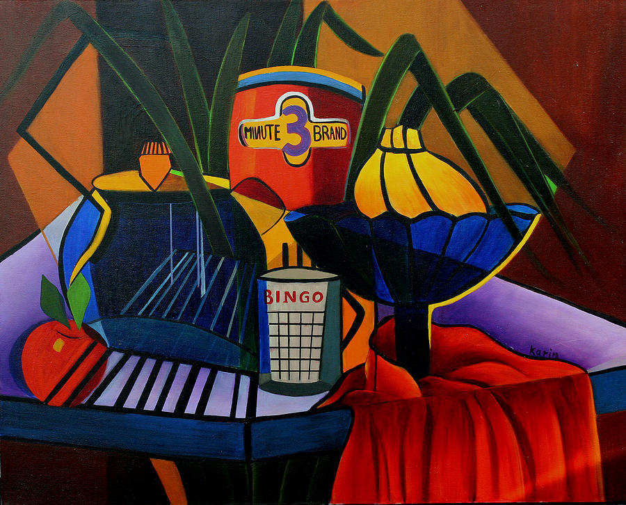 Abstract Painting - Breakfast With Oatmeal by Karin Eisermann