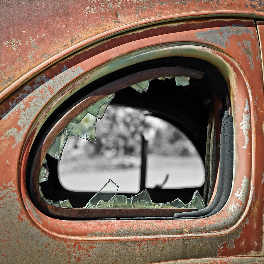 Old Car Photograph - Breaking Through Time by Steve McKinzie