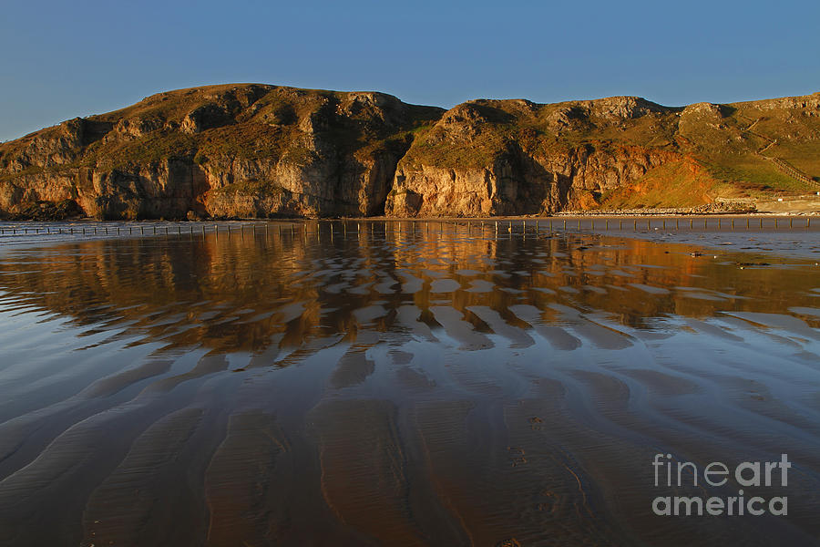 Beach Photograph - Brean Down Reflection by Urban Shooters