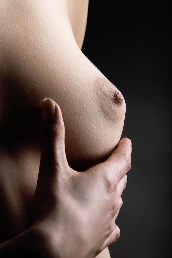 Human Photograph - Breast Self-examination by Mauro Fermariello