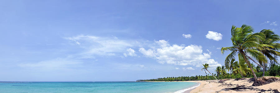 Afternoon Photograph - Breathtaking Tropical Beach Panorama by Sebastien Coursol