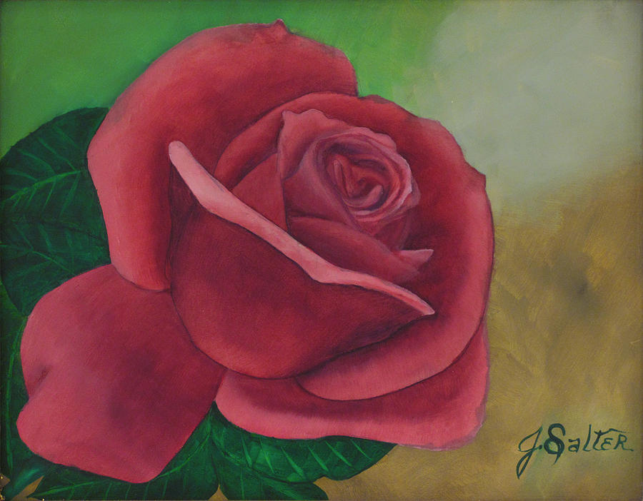 Brents Rose Painting by Julliette Salter