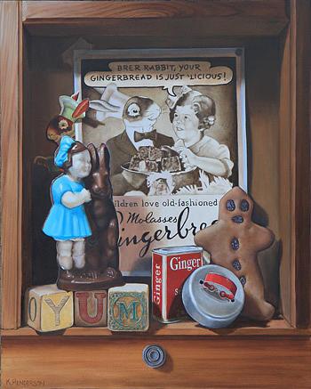 Brer Rabbit Painting - Brer Rabbit Molasses By K Henderson by K Henderson