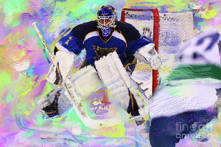 Hockey Painting - Brian Elliot by Donald Pavlica