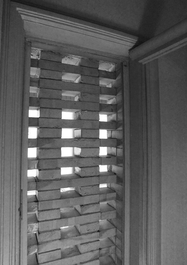 Bricks Photograph - Bricks In The Window by Anna Villarreal Garbis