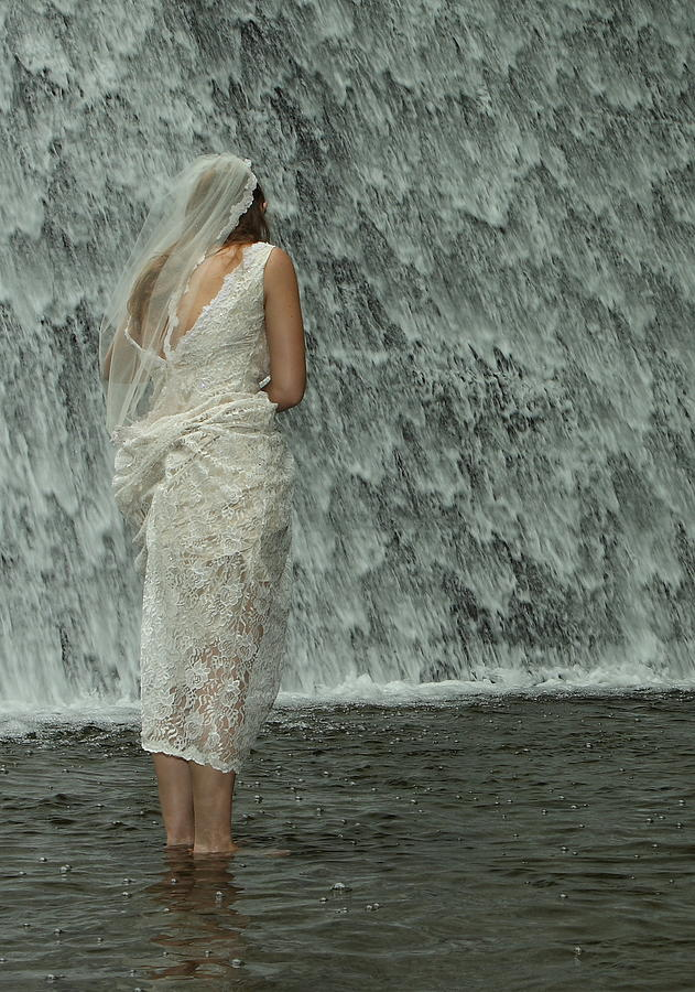 Water Photograph - Bride Below Dam by Daniel Reed