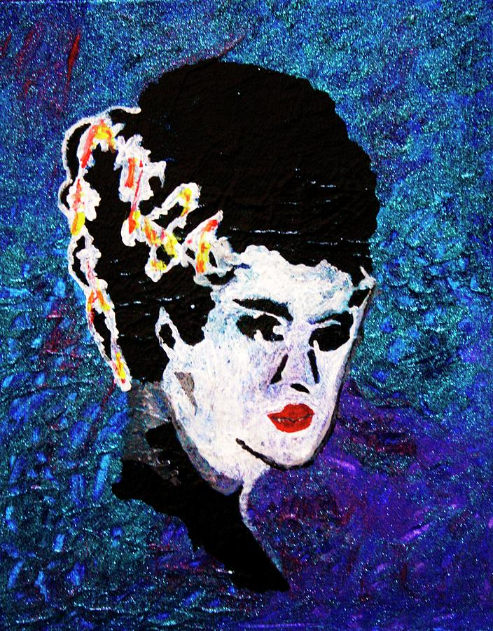 Abstract Painting - Bride Of Frankenstein by April Harker