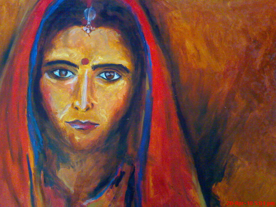 Girl Painting - Bride Prejudice by Navjeet Gill