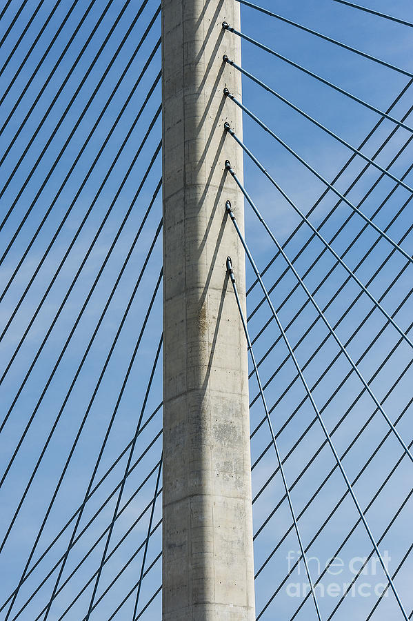 Coastal Highway Photograph - Bridge Abstract by John Greim