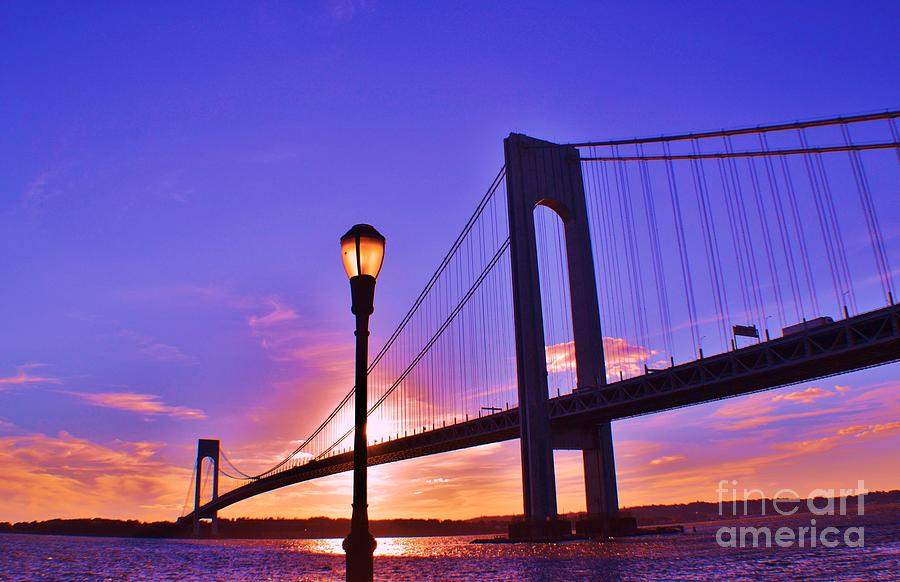 Sky Photograph - Bridge At Sunset 2 by Artie Wallace